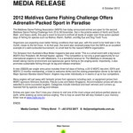 2012 Maldives Game Fishing Challenge Offers Adrenalin-Packed Sport in Paradise