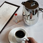 French press coffee in TRIO restaurant