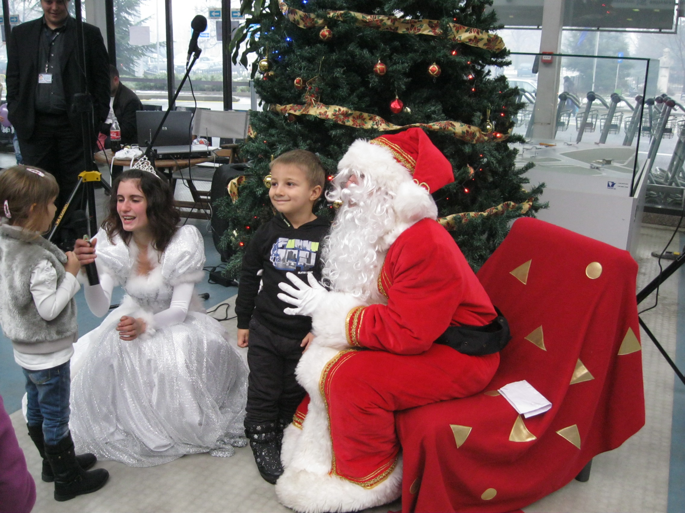Santa Claus arrived by helicopter at Sofia Airport