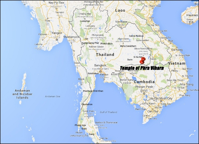 Map of Temple of Phra Viharn (View Larger Map)