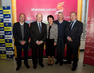 Shannon Airport congratulated Ryanair on its 13th million passenger through the airport