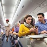 Stay connected with Emirates with Wi-Fi connectivity at no or nominal cost on over 100 aircraft, aeromobile service on 75% of its fleet and in-seat email, telephone and SMS services on every aircraft.
