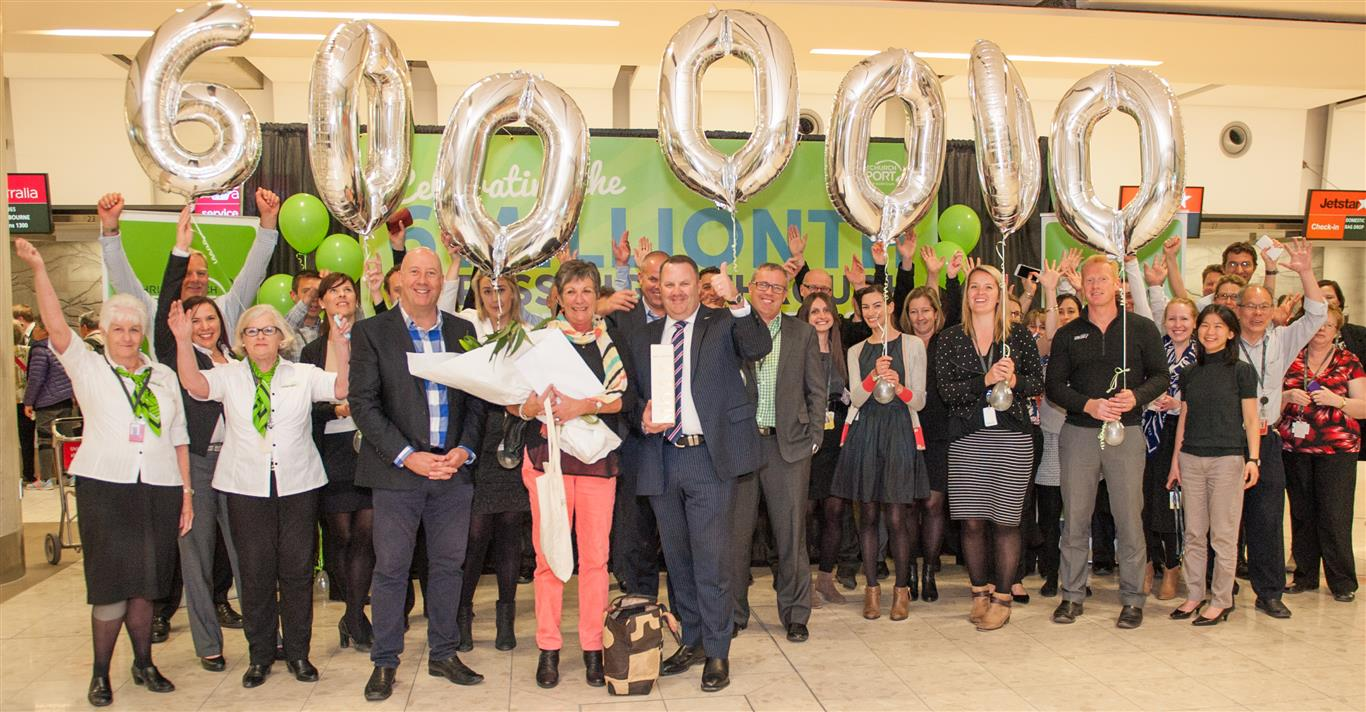 Christchurch airport welcomed its six-millionth passenger in a year