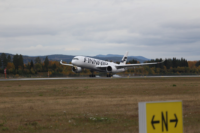 Finnair's Airbus A350 XWB marks first-ever visit to Norway at Oslo Airport