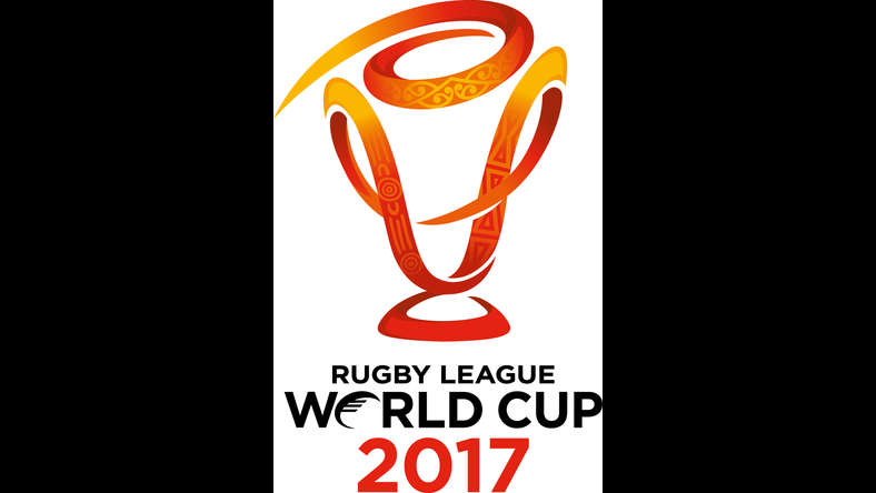 The new Rugby League World Cup logo represents the diversity of the hosting partners – Australia, New Zealand and Papua New Guinea and also represents the speed and movement of the game. CREDIT: Rugby League World Cup 2017