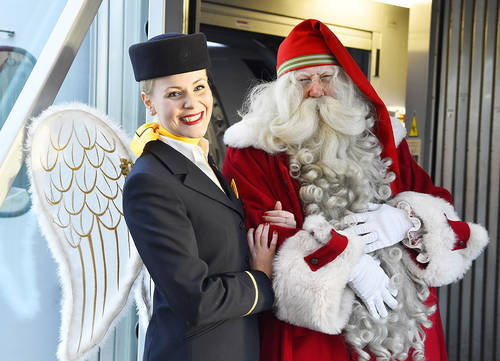 Santa flew back to Lapland with Lufthansa flight from Munich to Kittilä Finland