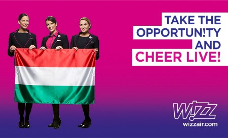 Wizz Air announces special flights from Budapest to France in June 2016 for football fans of the Hungarian National Team