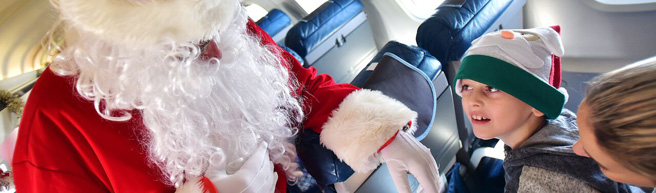 bmi regional and Bristol Airport hosted residents of Children's Hospice South West's Charlton Farm for Christmas party and scenic flight over the UK