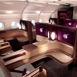 Qatar Airways' First Class cabin on board the A380