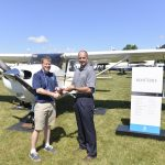 Cessna Aircraft Company delivers new Cessna Skyhawk 172 to Kent State University