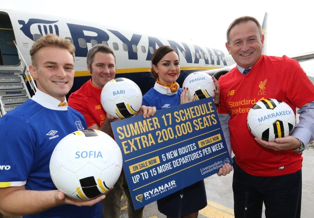 Ryanair launches its Liverpool summer 2017 schedule with 5 new destinations