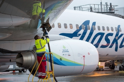 Alaska Airlines flies world first flight powered by renewable, alternative jet fuel made from forest residuals