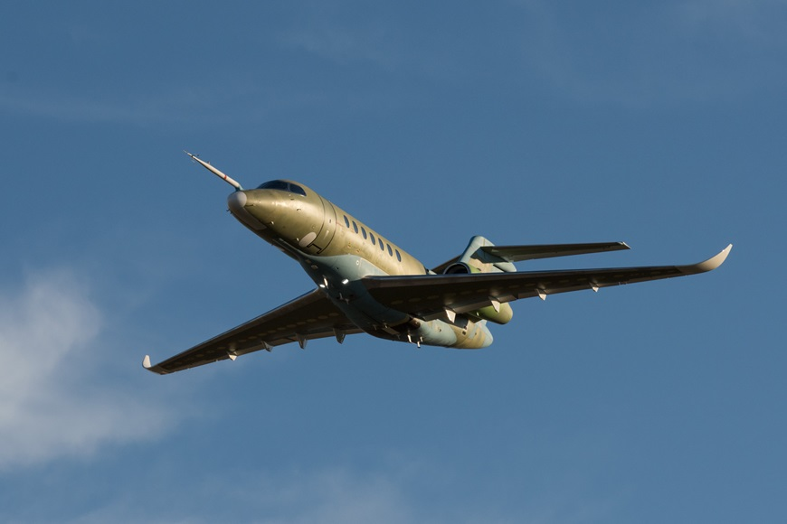 Cessna announces second aircraft in Citation Longitude flight test program successfully completed its first flight