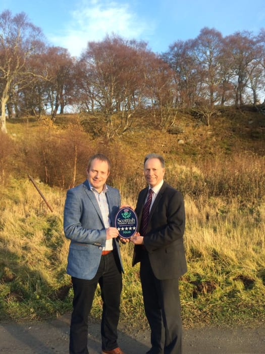 Gordon Pearson, owner of WOW Scotland Tours is pictured with Scott Armstrong, VisitScotland Regional Partnerships Director