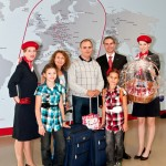 Family Boyarkina with Marcus Puffer (2. from right) and airberlin flight attendant