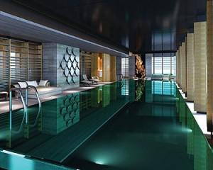 Indoor lap pool at Four Seasons Hotel Pudong, Shanghai (rendering)