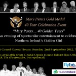 WIN TICKETS TO MARY PETERS GOLD MEDAL 40 YEARS CELEBRATION EVENT