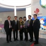 Tourism Department Heads of Guangdong, Hong Kong and Macau at the joint booth