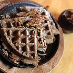 Chocolate bacon waffle