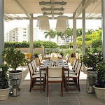 Dine indoors or out on fresh, seasonal dishes