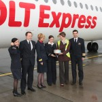 First OLT Express flight from Dresden arrives at Budapest Airport