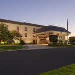 Hampton Inn Merrillville Completes Renovation - Exterior Dusk