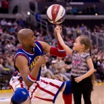 """Howard Johnson's """"Double Dribble"""" promotion provides Harlem Globetrotters fans access to nearly 250 shows throughout the U.S. and Canada. (Photo courtesy of Harlem Globetrotters International, Inc.)"""