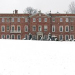 Manor House in the snow
