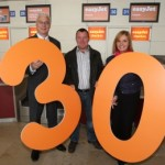 easyJet welcome onboard their 30 millionth passenger at Liverpool John Lennon Airport