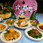 Benjarong's Family Style Set- Menu in celebration of Loy Krathong