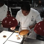 Chef Junior Ulep adds the finishing touches to his dish.