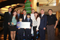 Dusit Thani Manila Awards the Winners of the Christmas Tree Contest Year III-1