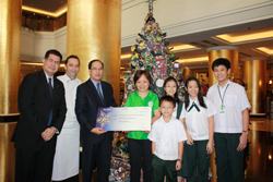 Dusit Thani Manila Awards the Winners of the Christmas Tree Contest Year III-2