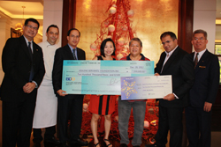 Dusit Thani Manila Awards the Winners of the Christmas Tree Contest Year III