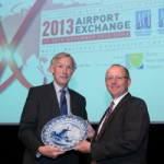 Executive Vice President of Doha International Airport Patrick Muller, pictured right, receives a traditional Dutch plate from Jos Nijhuis of Schiphol Amsterdam signifying the handover of the 2013 ACI Airport Exchange to Doha International Airport. The three-day event will take place November 18 – 20, 2013 at the Qatar National Convention Centre and is expected to attract over 2,000 delegates from around the world.