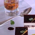 Foie gras, grilled pleurottes, nougat, tawny Port wine, kumquat