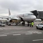 Qatar Airways' inaugural flight to Warsaw arrives in the Polish capital, its 32nd European destination
