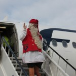 Santa Claus arrives in Budapest with an Airbus