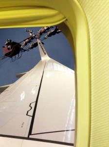 Santa test flight photographed by Ryanair passenger