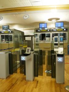 Self-service passport control at Oslo Airport