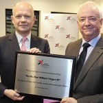 The Rt. Hon William Hague MP, Secretary of State for Foreign and Commonwealth Affairs officially opened Leeds Bradford Airport's (LBA) £11 million passenger terminal with John Parkin, Leeds Bradford Airport's Chief Executive