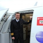Thomas Schuster, pilot at airberlin, flies flight guests from Moscow to Berlin on the 24th of December.