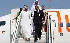 His Highness Sheikh Ahmed Bin Saeed Al Maktoum arrives at Sheikh Saad Al Abdallah General Aviation Terminal in Kuwait.