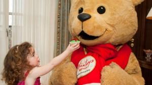 Cici Callanan, aged two, sharing Christmas Teddy Tea with Hamleys Bear at Four Seasons Hotel Dublin