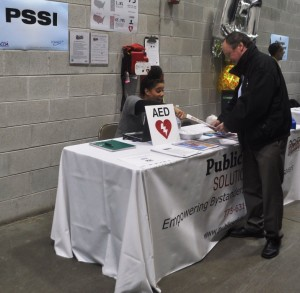Public Safety Solutions provided information about the Chicago HeartSave Program and distributed schedules for upcoming CPR/AED training classes.
