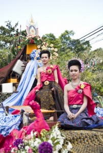 "The International Silk Festival ""Pook Xiao"" Tradition and Red Cross Fair 2013 in Khon Kaen, Thailand"