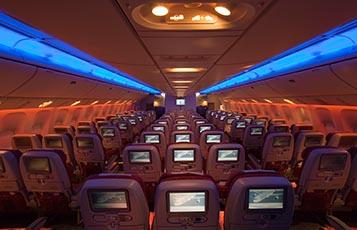 Qatar Airways' Boeing 777-200LR Economy Class
