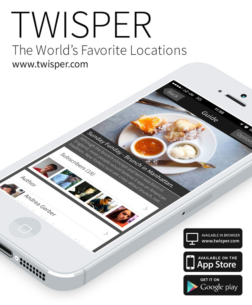 Twisper Travel GmbH, the most reliable source for quality locations around the world, launched Twisper Guides on February 11th
