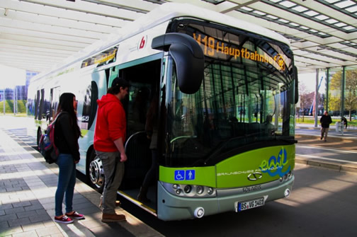 PRIMOVE electric bus in Braunschweig