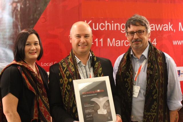 from left) Mel Wong, Matthew Findlay, Gordon Bevan, all of Christchurch Airport.